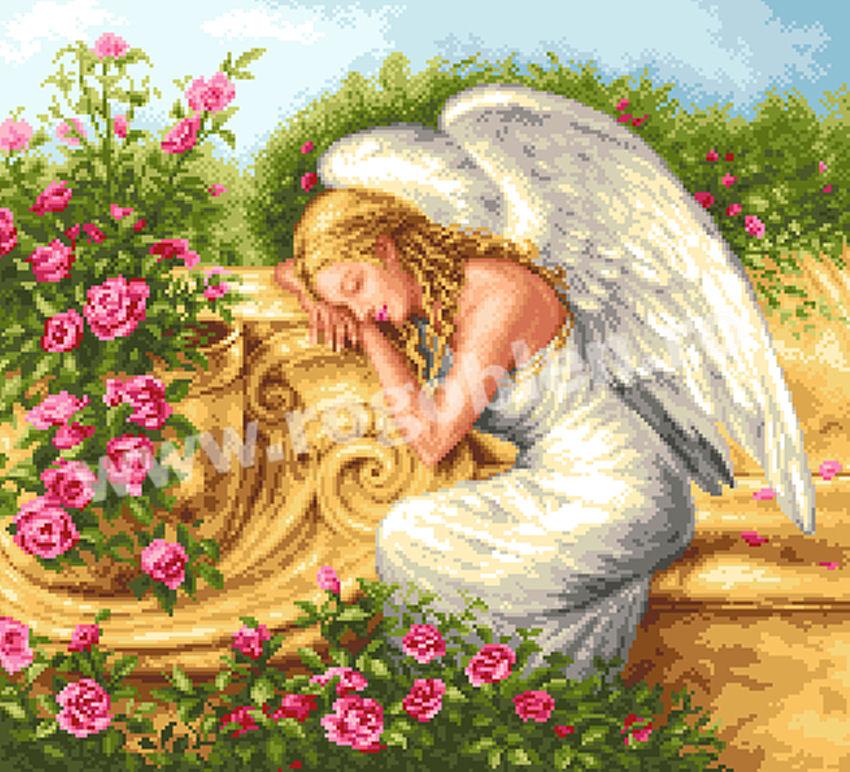 L'ange de roses