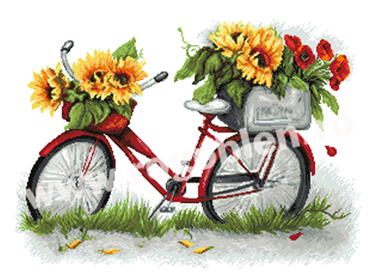 Bicicleta cu petale de soare