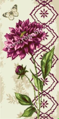Fiore di dalia viola