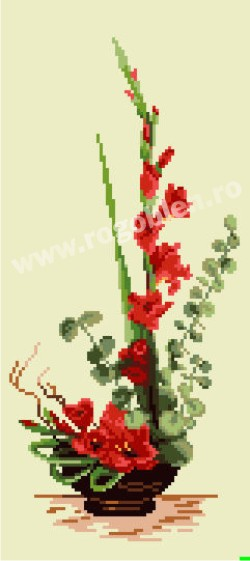 Ikebana con gladiolo