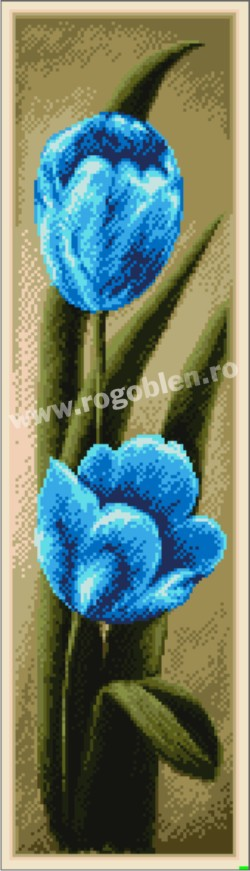 Duo - Tulipes bleues