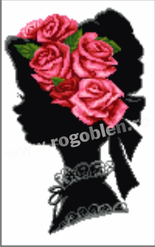 Корона с рози Розови