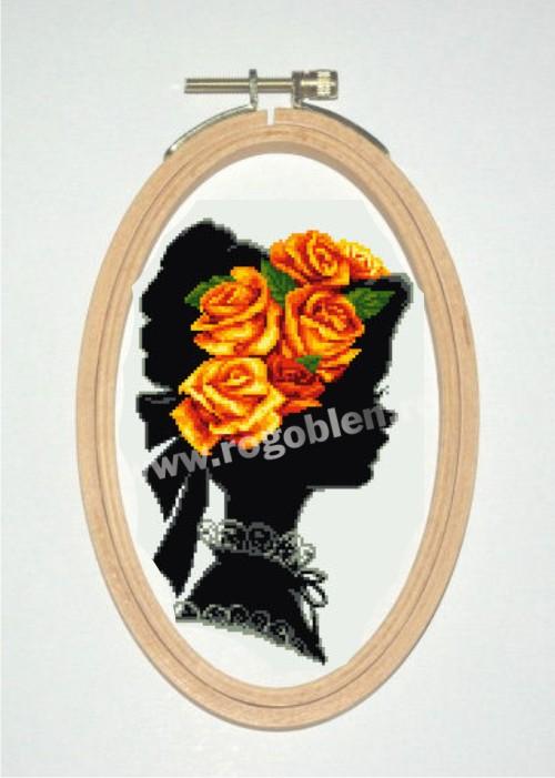 Корона с рози Жълто