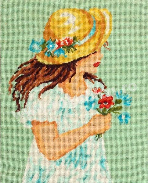 Fillette au chapeau jaune