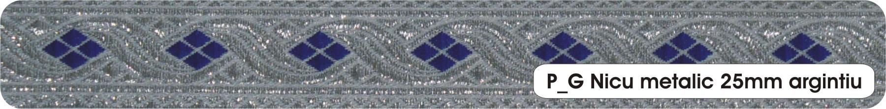 Galon Ribbon Nicu silver