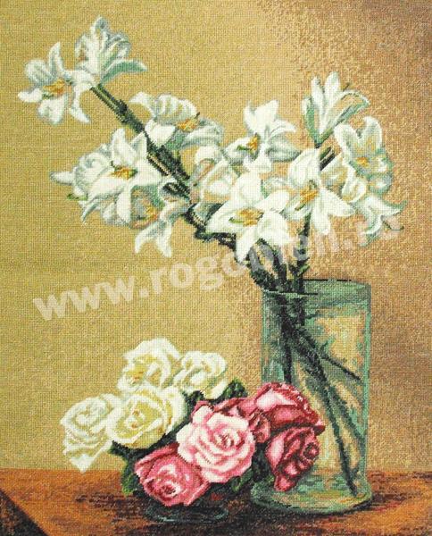 Lys blancs et roses