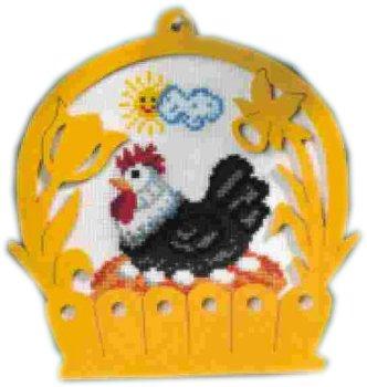 Cesto con gallina