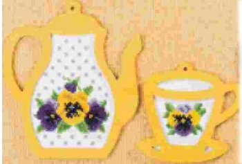 Tea with Pansies