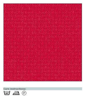 Aida canvas bright red