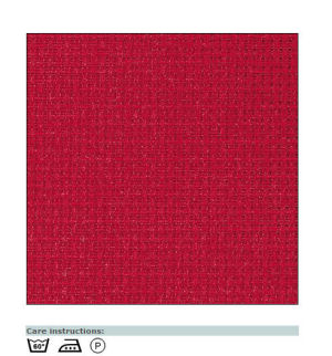 Aida canvas bright red