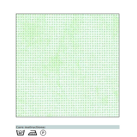 Aida canvas vintage lake green
