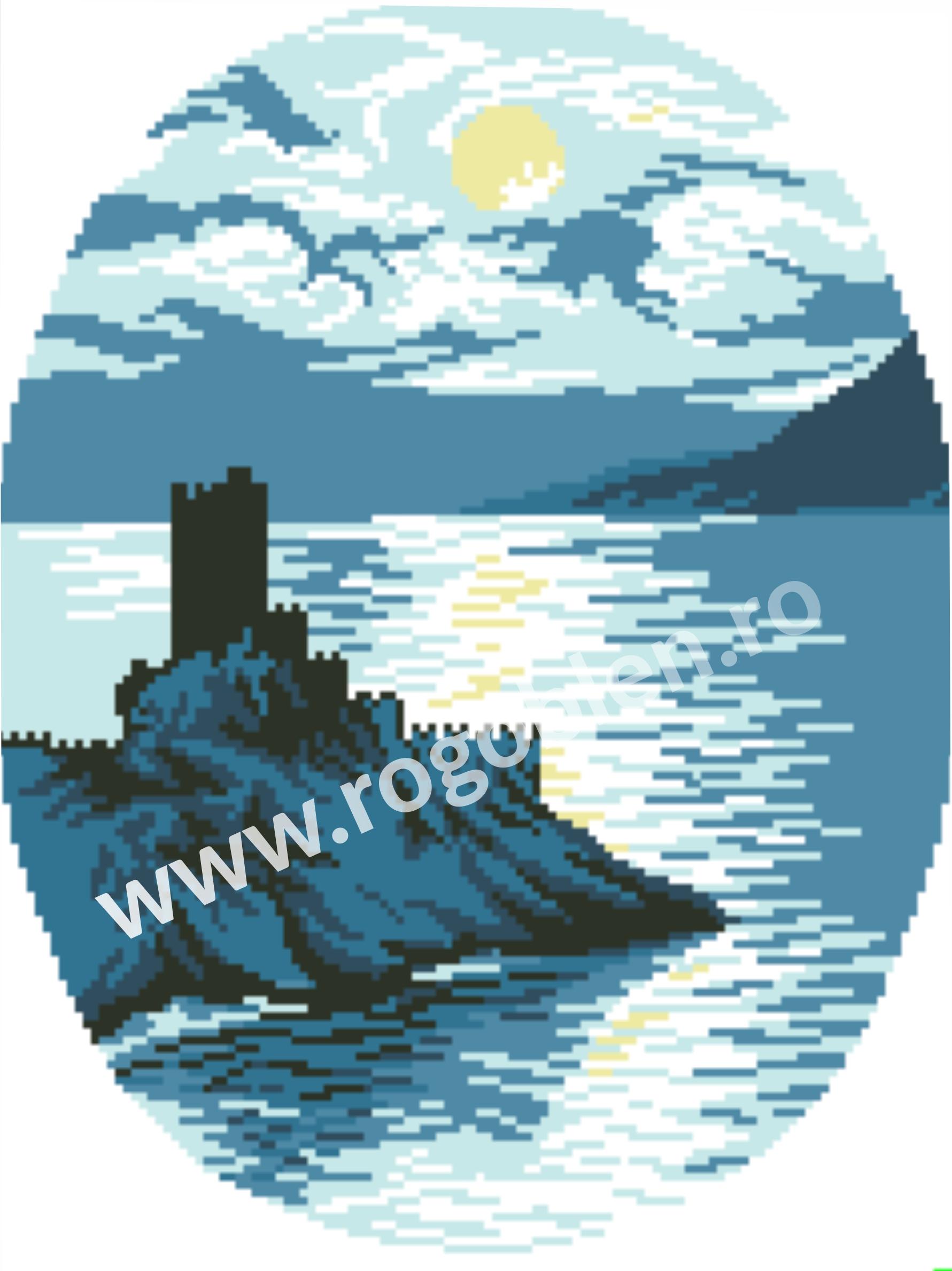 Chateau au bord de la mer