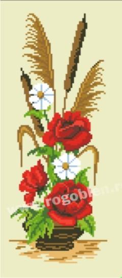 Ikebana aux roses