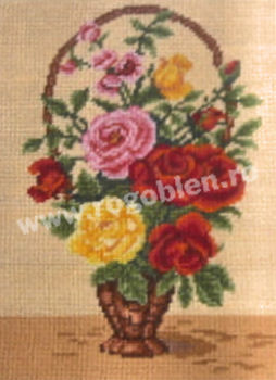 Small Basket with Roses