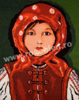 Little Girl with Red Headkerchief