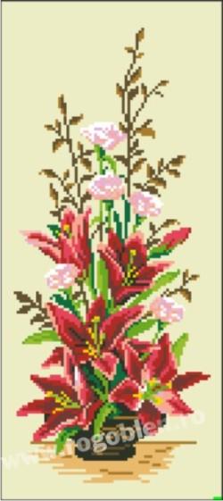Ikebana cu crini