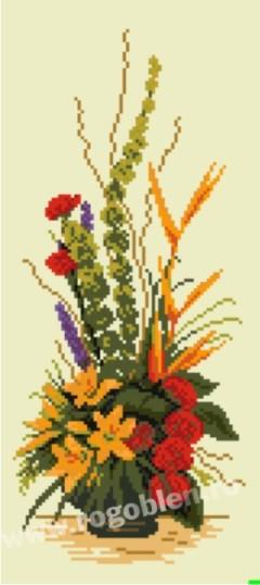 Ikebana cu flori exotice