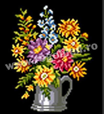 Tasse avec fleurs