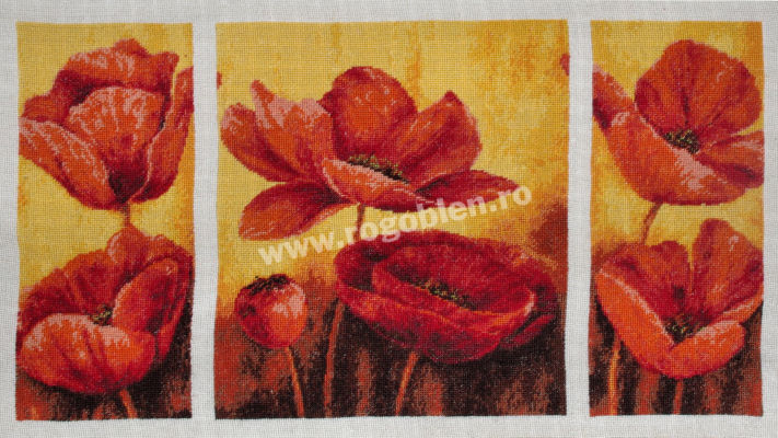 Triptych with Poppies