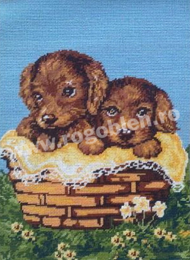 Basket with Doggies
