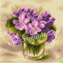 Violettes dans un verre