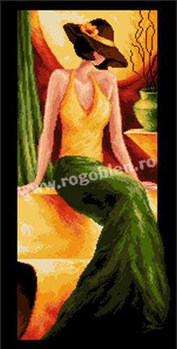 Domnisoara in verde