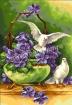 Goblen - Gabbia con viole