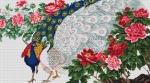 Goblen - Pauni in flori