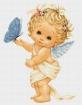 Goblen - Ingeras cu fluture