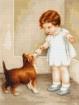 Goblen - Fetita cu cainele