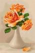 Goblen - Trandafiri portocalii in vaza