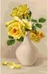 Goblen - Trandafiri galbeni in vaza