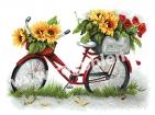 Goblen - Bicicleta cu petale de soare
