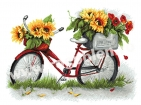 Goblen - Bici con girasole