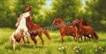 Goblen - Poiana cailor