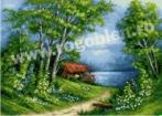 Goblen -  Lacul albastru