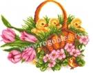 Goblen - Tulipes et poulet