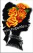 Goblen - Couronne de roses jaunes