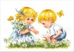 Goblen - Copii cu fluturasi