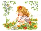Goblen - Fetita cu condurasi