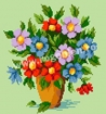 Goblen - Vas cu anemone