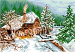 Goblen - Paesaggio invernale