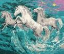 Goblen - Cavalli al galoppo