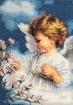 Goblen - Ангелочек с цветущей веточкой