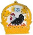 Goblen - Cesto con gallina