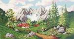 Goblen - Paesaggio di montangna