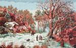 Goblen - Iarna la marginea satului