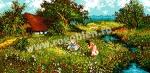 Goblen - La cules de flori