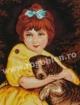 Goblen - Bambina con cagnolino