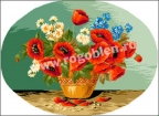 Goblen - Charrette des fleurs